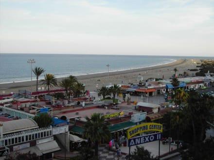 Blick Richtung Dünen - Strand Playa del Ingles