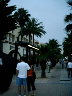 Fußgängerzone Anfang hinterm Hotel - Fußgängerzone