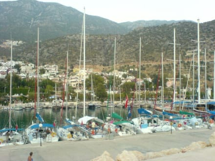 Blick auf den Hafen - Hafen Kalkan