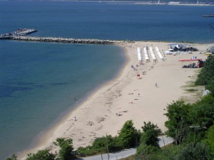Strand am Ende von Varna, Nähe vom Delphinarium - Strand Varna