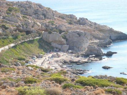 Strand von Kallithea - Strand Thermen von Kallithea