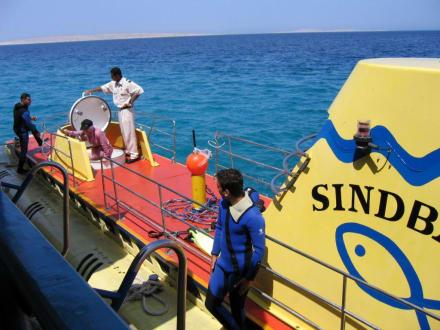 Beim Aussteigen - Sindbad Submarine