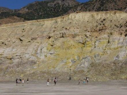 nochmal der Krater auf der Vulkaninsel Nissiros - Inselrundfahrt