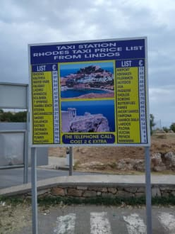 Tafel - Akropolis von Lindos