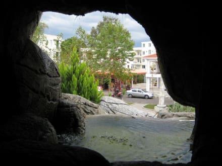Blick aus der Anlage - Brunnen in Belek