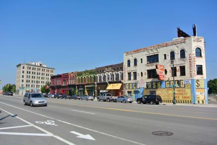 Verfall und neue Nutzung, in Detroit überall  - Detroit
