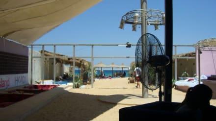 Liegeplätze in der Hedkandi Beachbar - Papas Beach Club