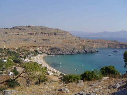 Ausblick von der Akropolis - Akropolis von Lindos