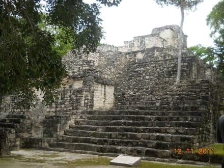Pyramide Struktur  - Calakmul