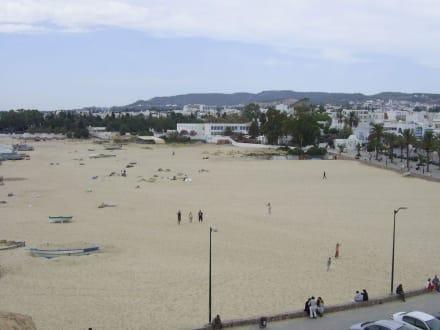 Ausblick von der Kasbah auf den Strand - Medina