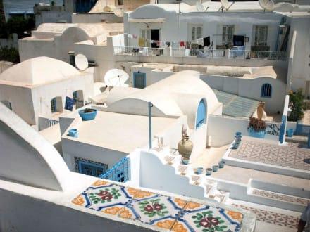 Auf dem Dach des Besichtigungshauses - Künstlerdorf Sidi Bou Saïd