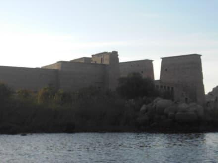 Blick auf den Philae Tempel vom Nil aus - Philae Tempel
