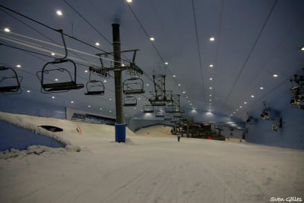 Der Start - Ski-Dubai Halle (Mall of the Emirates)