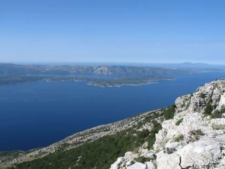 Blick vom Vidova Gora - Berg Vidova Gora