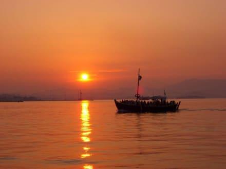 Sonnenuntergang - Hafen Korfu Stadt/Kerkyra