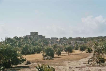 Blick auf den Komplex von Tulum - Ruinen von Tulum