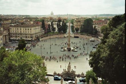 Blick auf Rom - Piazza del Popolo