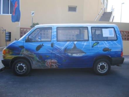 Der schöne VW-Bus - Tauchbasis Easy-Diving Costa Calma
