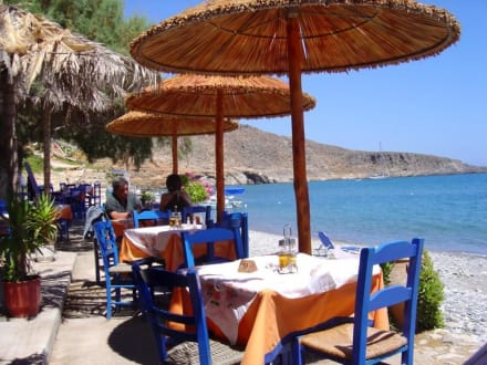 Taverna Akrigialos in Kato Zakros (Kreta) - Taverna Akrigialos