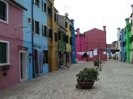 Bunte Häuser in Burano - Insel Burano