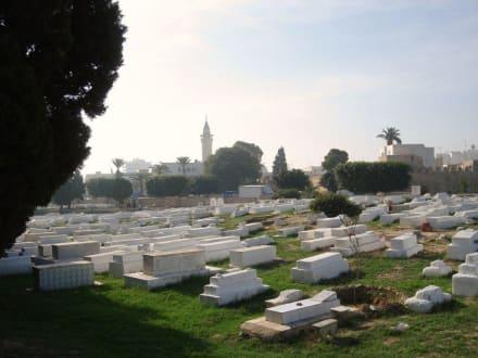Riesiger Friedhof - Mausoleum Bourguiba
