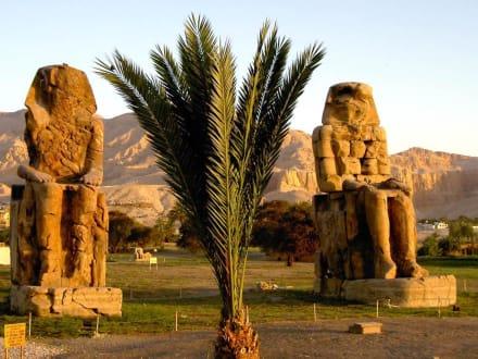 West-Theben_Memnon-Kolosse bei Sonnenaufgang - Kolosse von Memnon