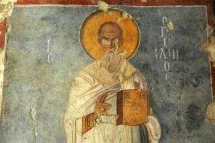 Wandfreske mit Abbildung des Hl. Nikolaus (?) - Kirche Hl. Nikolaus