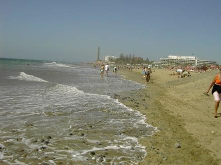 Letzte Etappe der Strandwanderung - Strand Maspalomas