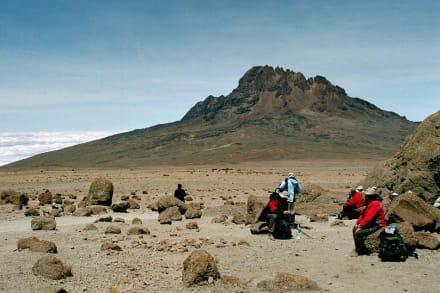 Kibo Sattel - Blick zum Mawenzi - Kilimanjarobesteigung