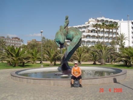 Brunnen an der Promenade - Shoppingcenter Boulevard El Faro