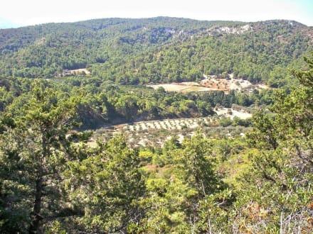 Blick von Kamiros auf die Landschaft - Ausgrabung Kamiros Skala