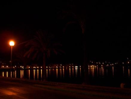 Hafen von Porto de Soller bei Nacht - Hafen Puerto de Soller/Port de Soller