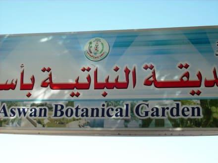 Schild botanischer Garten - Botanischer Garten Assuans - Kitchener Island