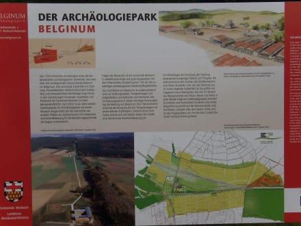 Tafel Archäologiepark - Belginum