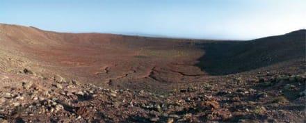 Blick oben in den Montana Roja - Vulkan Montaña Roja