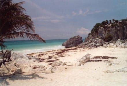 Strandabschnitt Tulum - Ruinen von Tulum