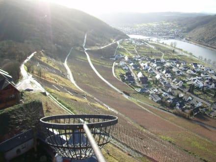 Burg Thurant: Blick auf Alken an der Mosel - Burg Thurant
