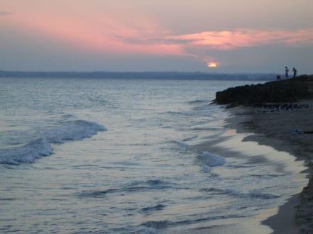 Sonnenuntergang am Migjorn-Strand - Strand Playa Migjorn