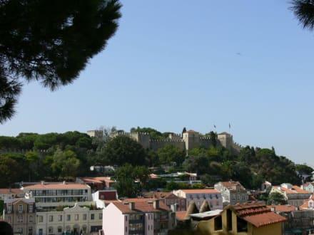 Blick auf Castelo - Castelo de Sao Jorge