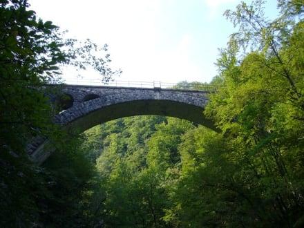 Brücke Vintgar - Vintgarklamm