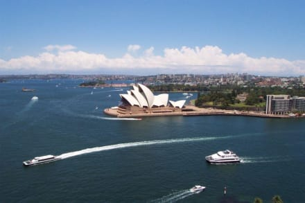 Blick auf die Oper vom Pylon Lookout - Harbour Bridge