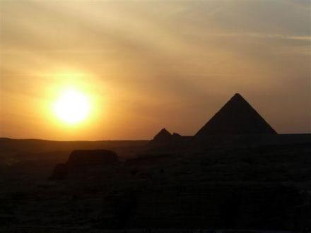 Vom Dach bei Pizzahut - Pyramiden von Gizeh