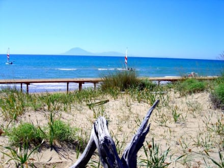 Blick von den Dünen - Strand Kyllini