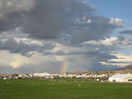 Regenbogen über dem Fiesta-Gelände - Ballon Fiesta
