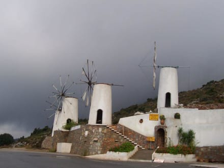Windmühlen als Wasserpumpen - Hochebene Diktigebirge