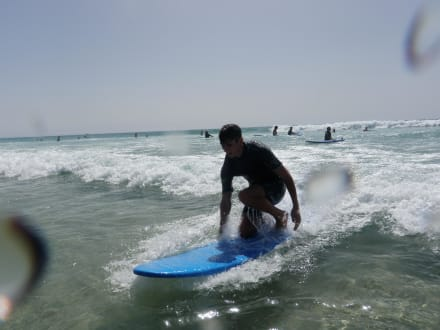 Real surf unserer Local Surfinstruktor/Fuertevent  - Surfschule Watersports Fuerteventura Costa Calma