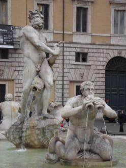 Brunnendetail - Piazza Navona