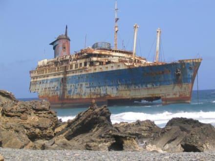 Wrack der American Star vor Fuerteventura - Wrack der American Star (existiert nicht mehr)