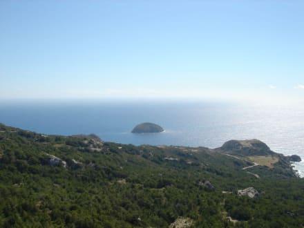 Blick von Monolithos auf's Meer - Johanniterfestung Monolithos