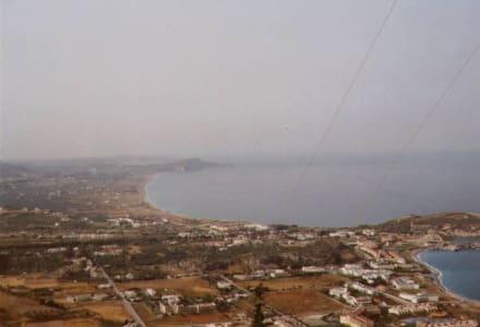 Blick vom Tsambika-Berg über Kolymbia - Tsambika-Berg